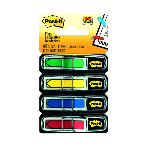 Post-it Index Arrows Standard Assorted (96 Pack) 684-ARR3