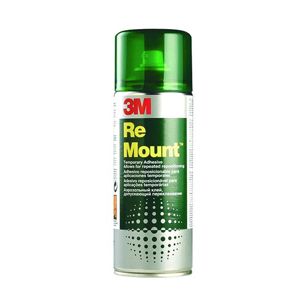 Spray Adhesive 3M ReMount Creative Spray Repositionable Adhesive 400ml REMOUNT