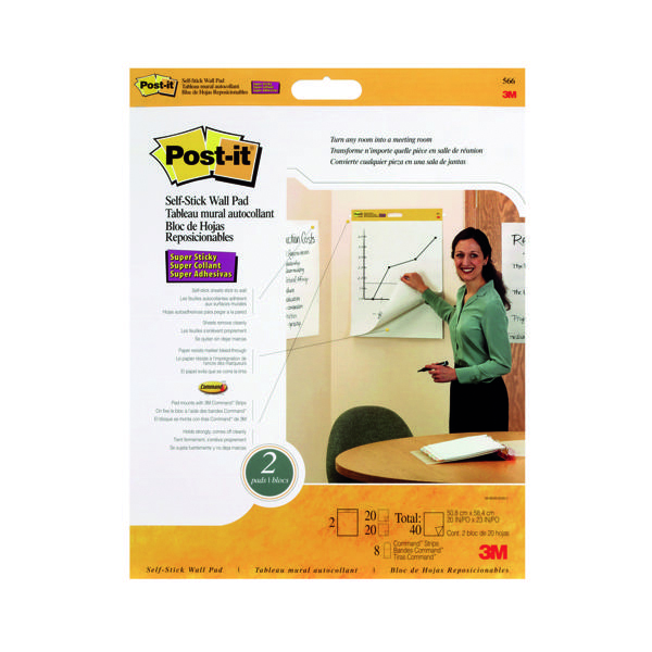 Pads Post-it Super Sticky Table Top Meeting Chart Refill Pad (2 Pack) 566