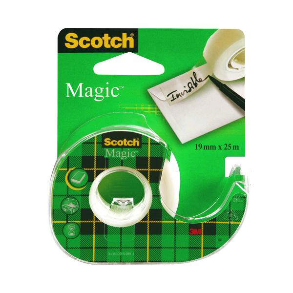 18/19mm Scotch Magic Tape 810 19mm x 25m with Dispenser (12 Pack) 8-1925D