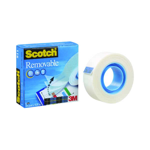18/19mm Scotch Removable Magic Tape 811 19mm x 33m 8111933