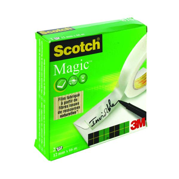 Scotch Magic Tape 810 12mm x 66m (2 Pack) 8101266