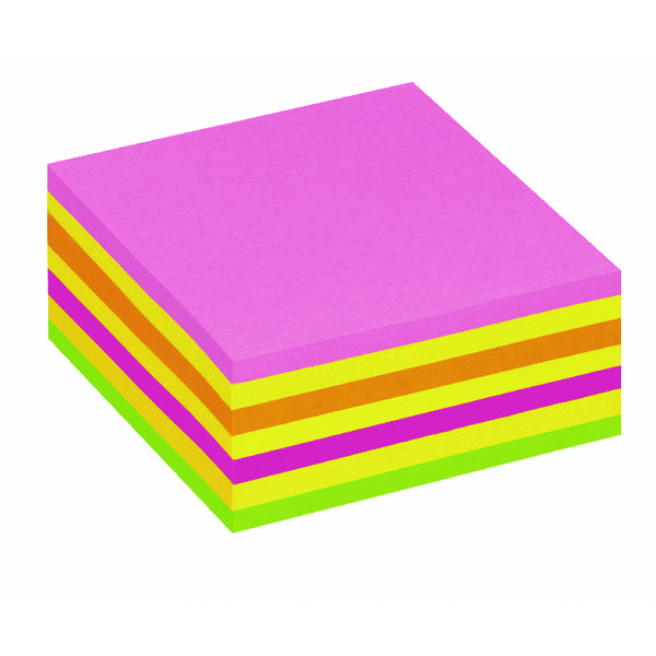 Shapes & Cubes Post It Neon Pink Rainbow Cube Hanging Flow Wrap 325 Sheet Cube 2014LP