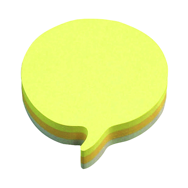 Shapes & Cubes Post-it Notes 70 x 70mm Speech Bubble Rainbow (12 Pack) 3M37917