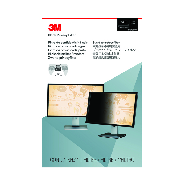 Privacy 3M Privacy Filter for Widescreen Desktop LCD Monitor 24.0in PF240W9B