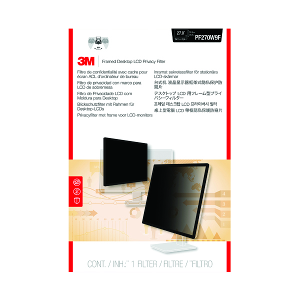 Privacy 3M Privacy Filter for Widescreen Desktop LCD Monitor 27.0in PF270W9B