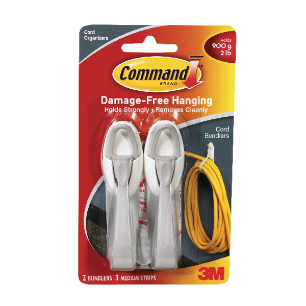 3M Command Adhesive Cord Bundlers (2 Pack) 17304