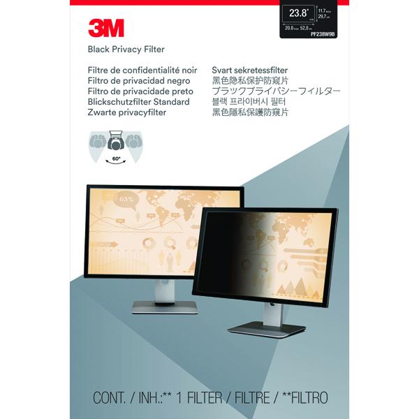Privacy 3M Privacy Filter for Widescreen Desktop LCD Monitor 23.8in PF238W9B