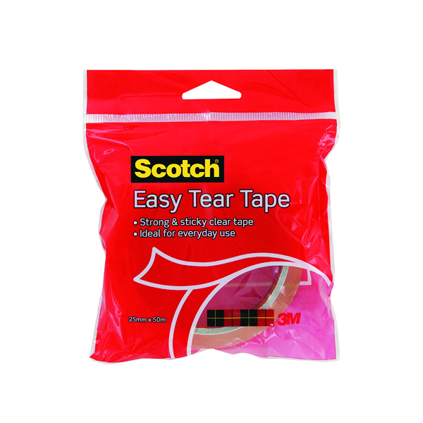 Unspecified 3M Scotch Easy Tear Clear Everyday Tape Single Roll GT500077224