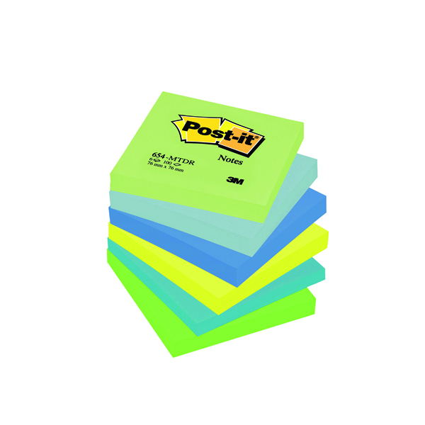 Colour Standard Sizes Post-it Notes 76 x 76mm Dream Colours (6 Pack) 654MT