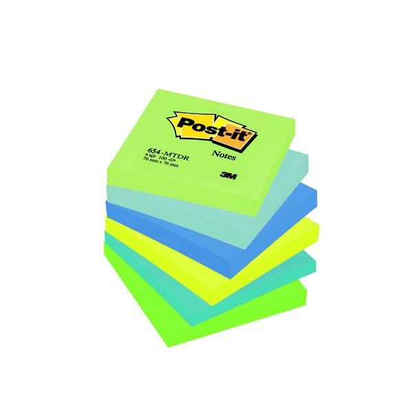 Post-it Notes 76 x 76mm Dream Colours (6 Pack) 654MT