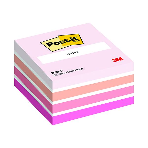 Post-it Notes Colour Cube 76 x 76mm Pastel Pink 2028P