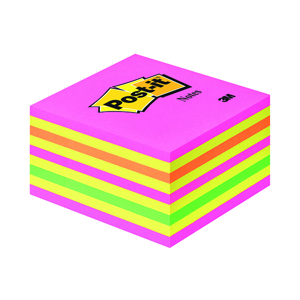 Shapes & Cubes Post-it 76x76mm Neon Note Cube 2028NP
