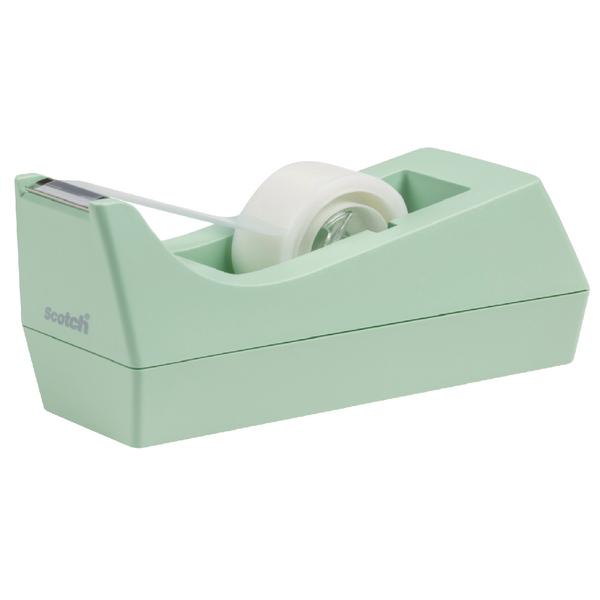 Scotch Tape Dispenser Mint with One Roll of Scotch Magic Tape 19mm x 8.89m C38-M-EU