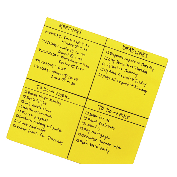 Unspecified Post-it Super Sticky Yellow Big Notes 558 x 558mm (30 Pack) BN22-EU