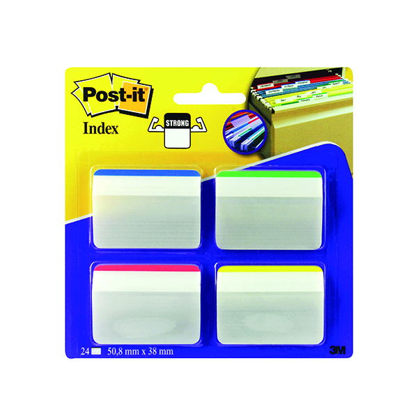 Post-it Angled Filing Tabs Assorted (24 Pack) 686-A1