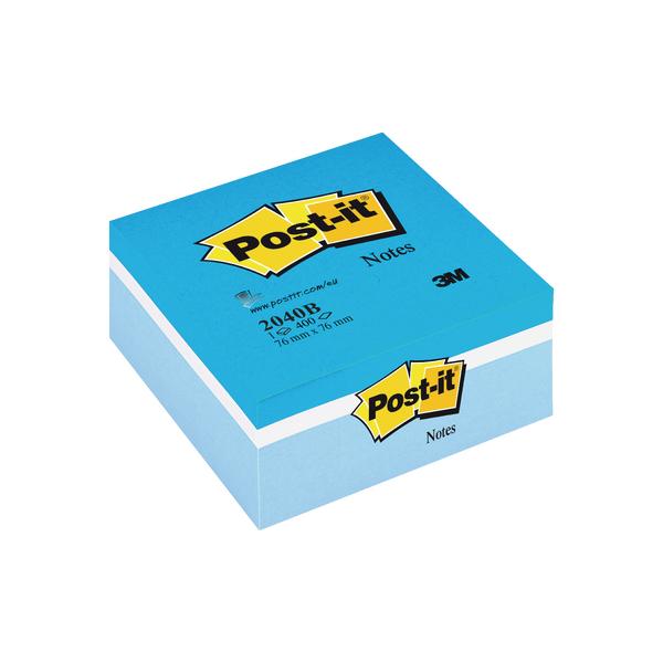 Shapes & Cubes Post-it Note Colour Cube 76 x 76mm Blue 400 Sheets 2040B