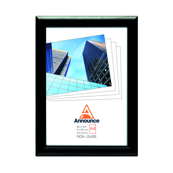 Certificate / Photo Frames Announce Snap Frame A4 Black AA06222