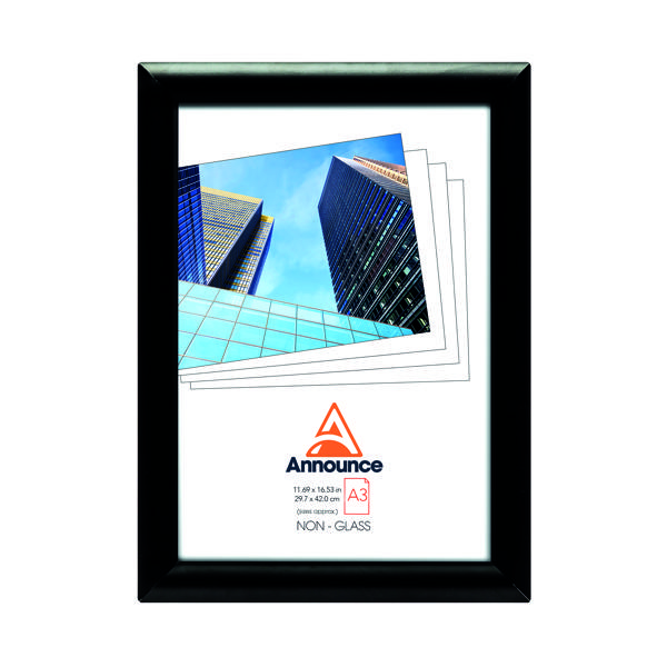Certificate / Photo Frames Announce Snap Frame A3 Black AA06223