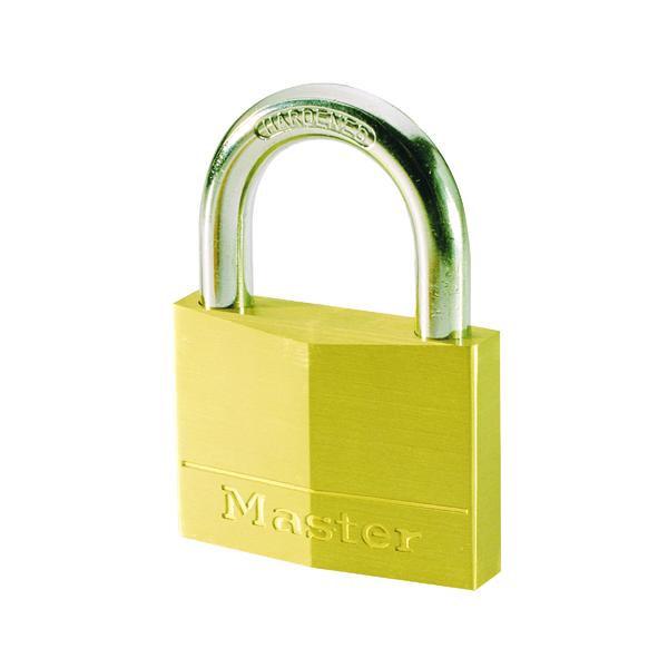 Padlocks Master Lock Magnum Padlock 30mm Solid Brass with Keys 40043