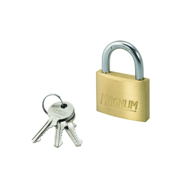 Padlocks Master Lock Magnum Padlock 50mm Solid Brass with Keys 40044