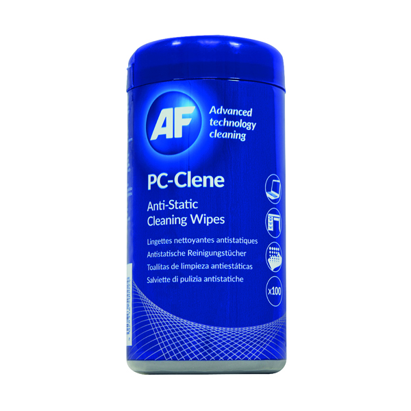 Computer/Peripherals AF PC-Clene Anti-Static Cleaning Wipes Tub (100 Pack) PCC100