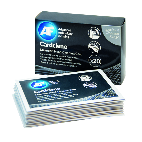 Unspecified AF Cardclene ATM/POS Magnetic Head Cleaning Cards (20 Pack) CCP020