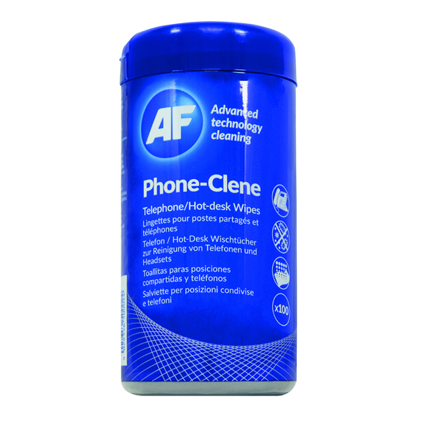 Phone AF Phone-Clene Telephone Wipes Tub (100 Pack) APHC100T