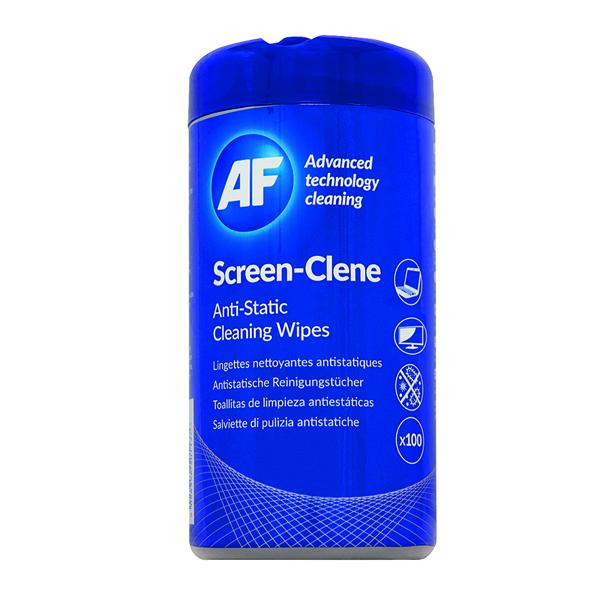 AF Screen-Clene Anti-Static Screen Wipes Tub (100 Pack) ASCR100T