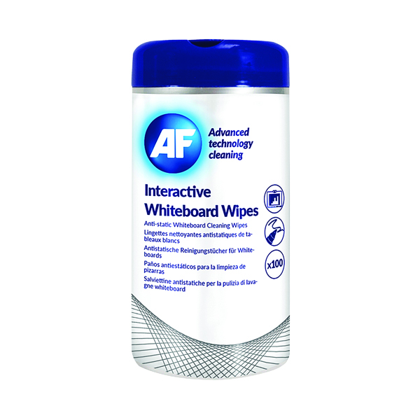 Cleaning/Erasing AF Interactive Whiteboard Wipes (100 Pack) AWBW100T