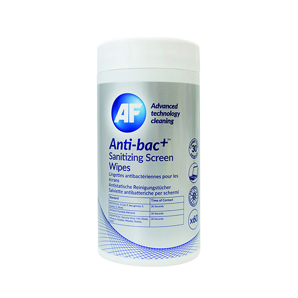 Anti-Bac+ Sanitising Screen Wipes (60 Pack) ABSCRW60T