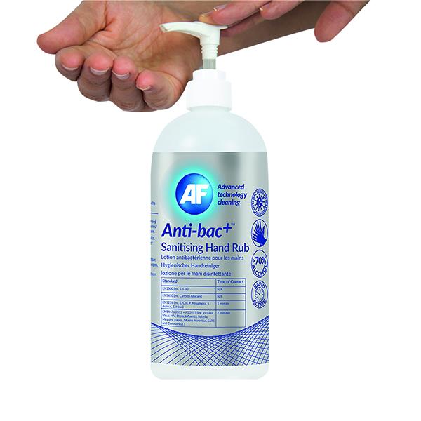 Anti-Bac+ Sanitising Hand Rub 500ml (6 Pack) ABHHR500_6