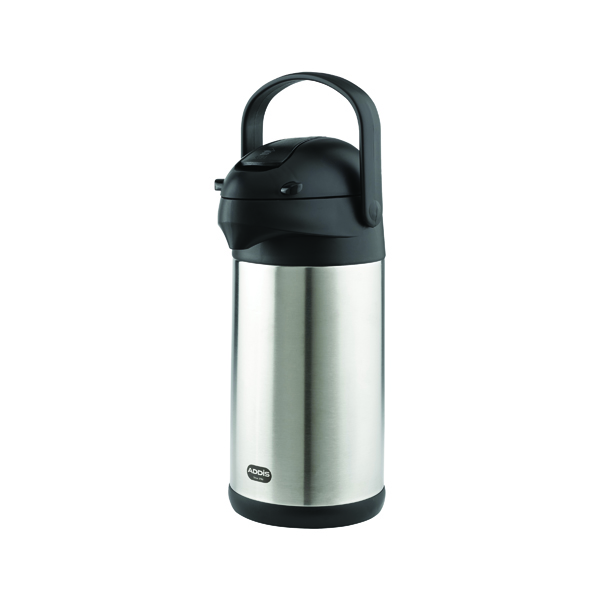 Thermos Addis Chrome President Pump Pot Vacuum Jug 3 Litre 517465