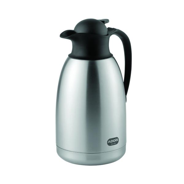 Flasks/Urns Addis Diplomat Stainless Steel/Black Vacuum Jug 2 Litre 629181600