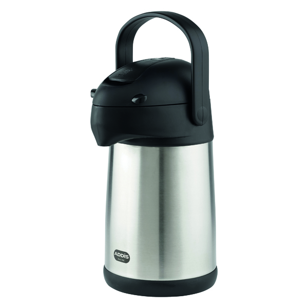 Thermos Addis Chrome President Pump Pot Vacuum Jug 2 Litre 637201600