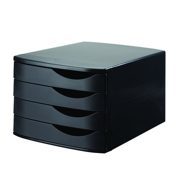 Organiser Jalema 4 Drawer Desktop Set Black 2686374299