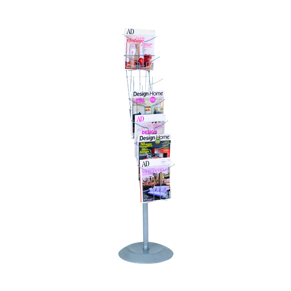 Literature Holders Alba Floor-Standing 7-Pocket Literature/Magazine Display DD7S