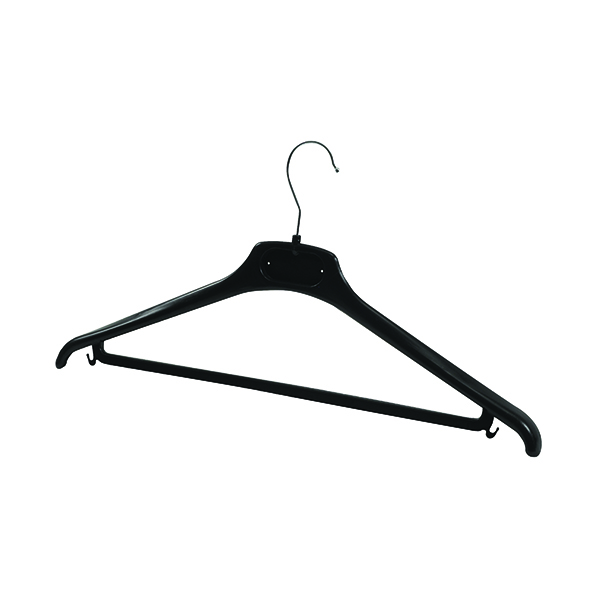Coat Stands Alba Plastic Coat Hanger Black (20 Pack) PMBASICPL