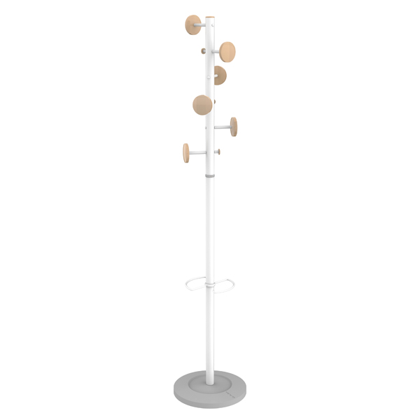 Coat Stands Alba Music Coat Stand White/Beech PMMUSICBC