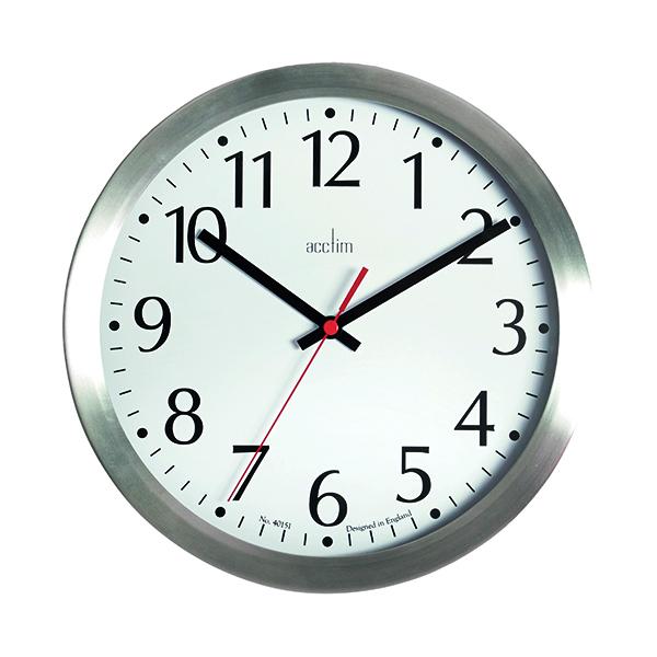 Wall Acctim Javik 10 Inch Wall Clock Aluminium 27417