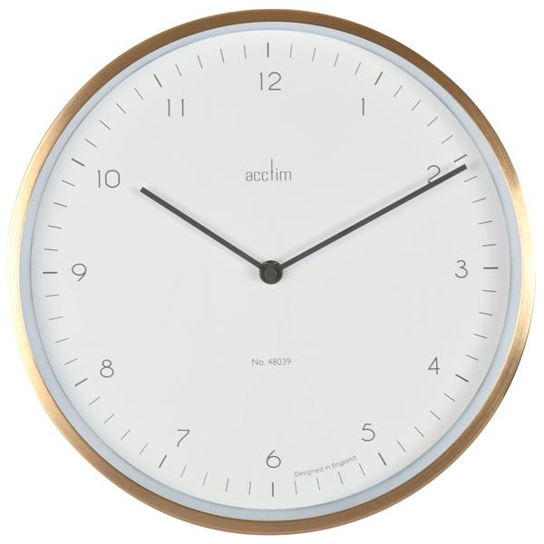 Wall Acctim Bronx 30cm Wall Clock Brass 29458