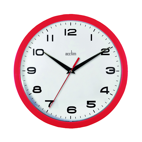 Wall Acctim Aylesbury Wall Clock Red 92/303