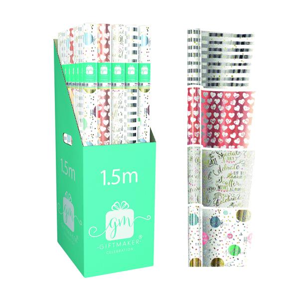 Giftmaker Celebration Mix Gift Wrap (36 Pack) Y8GM123K
