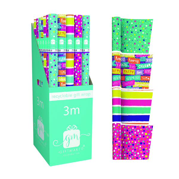 Giftmaker Teen Mix Gift Wrap (36 Pack) Y8GM123G