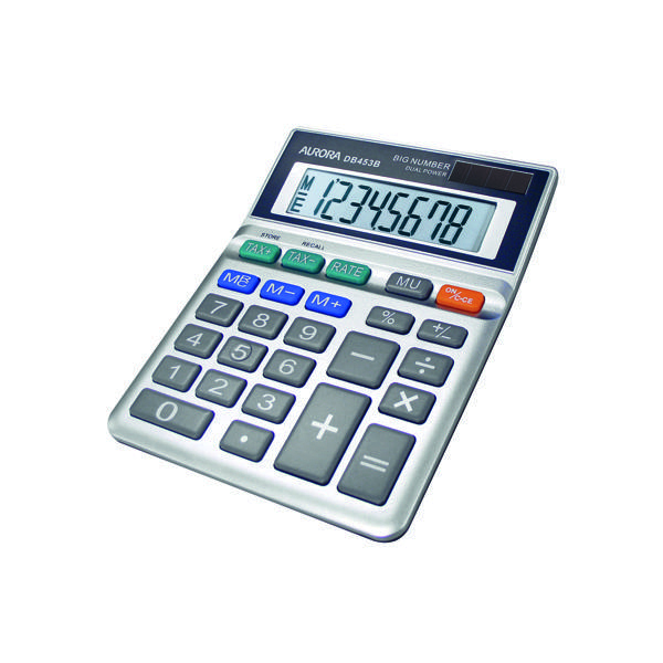 Desktop Calculator Aurora Grey 8-Digit Semi-Desk Calculator DB453B