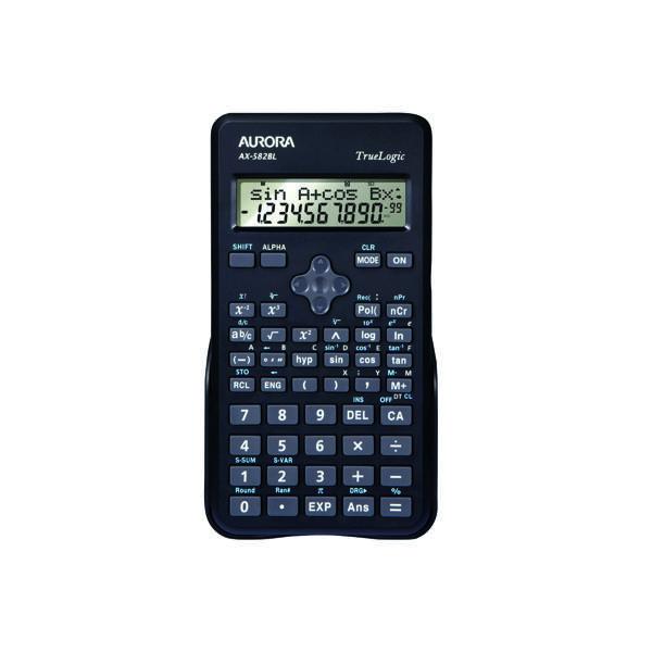 Scientific Calculator Aurora Black 2-Line Scientific Calculator AX582BL