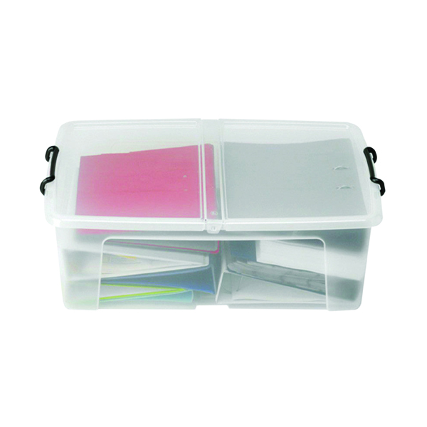 Storage Boxes Strata 50L Smart Box with Lid Clear HW675