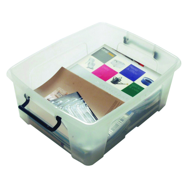 Storage Boxes Strata 24L Smart Box with Lid Clear HW673