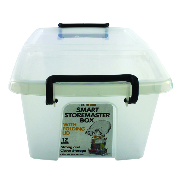 Storage Boxes Strata 12L Smart Box with Lid Clear HW671