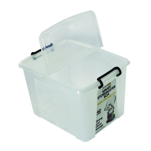 Storage Boxes Strata 40L Smart Box with Lid Clear HW674